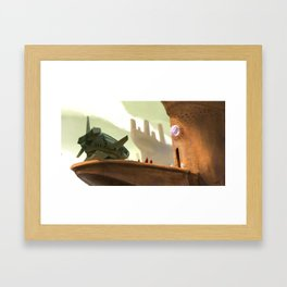 Unexpected Visitors Framed Art Print