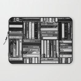Music Cassette Stacks - Black and White - Something Nostalgic IV #decor #society6 #buyart Laptop Sleeve