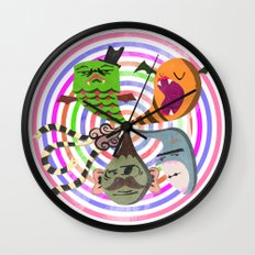 scary makes you happy Wall Clock