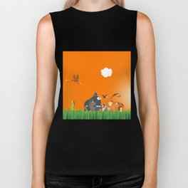 What's going on in the jungle? Kids collection Biker Tank