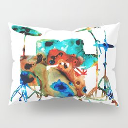 The Drums - Music Art By Sharon Cummings Pillow Sham