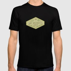 Grow Write Guild Seal Black MEDIUM Mens Fitted Tee