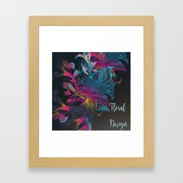 Multicolor floral design Framed Art Print