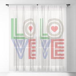 Valentine Love note Sheer Curtain