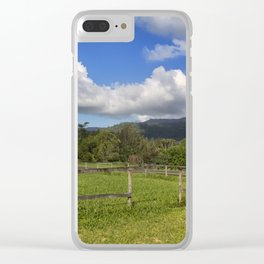 Idyllic rural view Clear iPhone Case