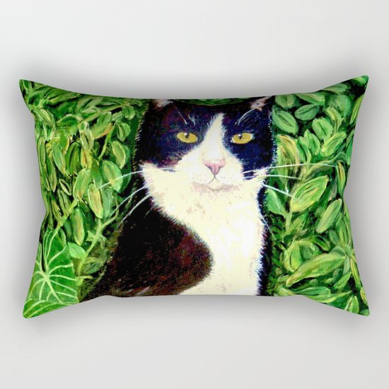 Kitty in the Woods Rectangular Pillow