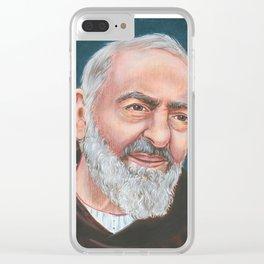 St Padre Pio of Pietrelcina Clear iPhone Case