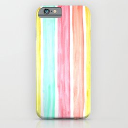 Pastel Watercolor Stripes iPhone Case