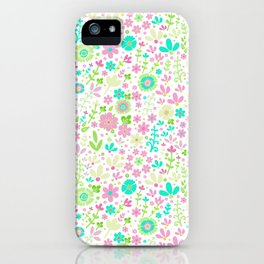 Pastel summer, floral field iPhone Case