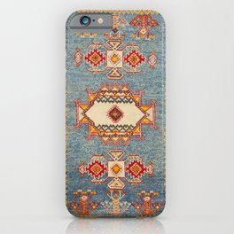 Moroccan 19th Century Authentic Colorful Baby Blue Vintage Patterns iPhone Case