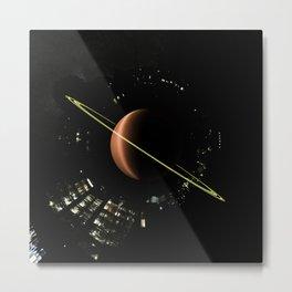 Tiny Planet Appartments Series. Metal Print