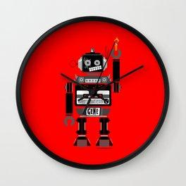 80s Mix Tape Robot - Gene (KISS TRIBUTE) Wall Clock