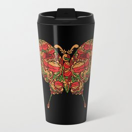 The Butterfly in Khokhloma Travel Mug