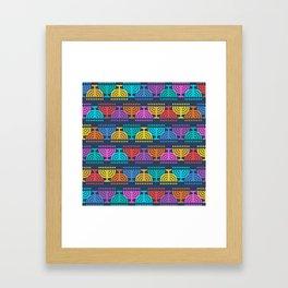 Hanukkah Menorah Pattern 2 Framed Art Print