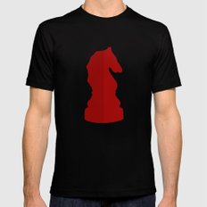 Red Chess Piece - Knight Black MEDIUM Mens Fitted Tee