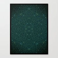 internet Canvas Prints featuring The Internet by FRAXTURED