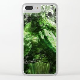 Green Hero Clear iPhone Case