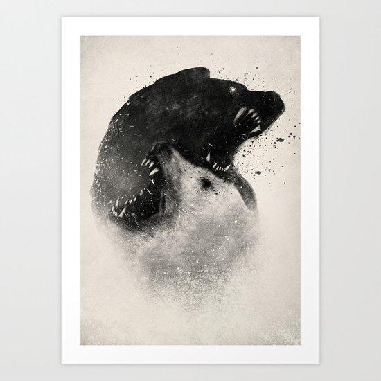 Polar Opposites  Art Print