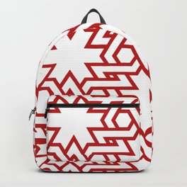Red and white pattern Backpack