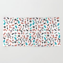 London Icons Beach Towel