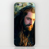 thorin iPhone & iPod Skins featuring Thorin OakenShield by Alba Palacio