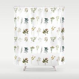 Delicate Floral Pieces Shower Curtain