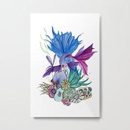 betta splendens fish Metal Print