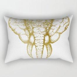 Elefante - Gold Rectangular Pillow