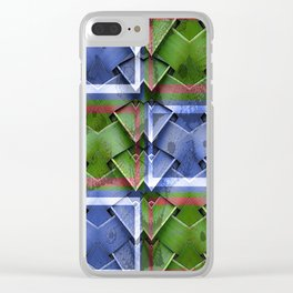 Bamboo Montage Clear iPhone Case