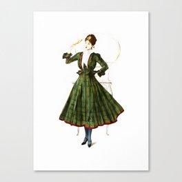 Vintage Fashion Dress Canvas Print