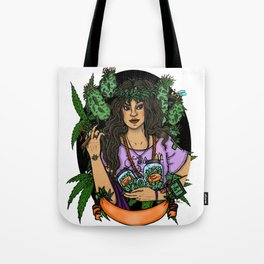 Our Lady of Perpetual Budtending Tote Bag