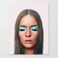 makeup Canvas Prints featuring Makeup by Rachel De Vita