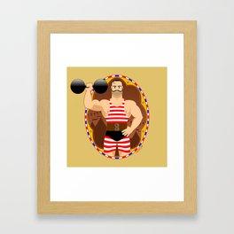 Circus strongman Framed Art Print