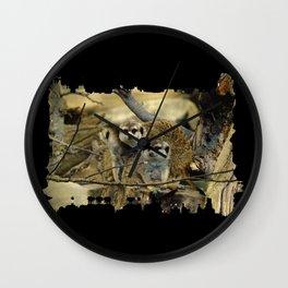 African Meerkat Trio Wall Clock