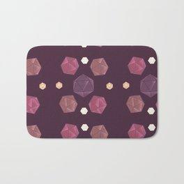 Red and Purple DnD Dice Bath Mat