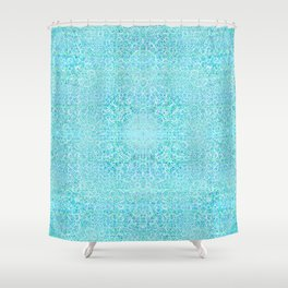 Brian's Bubbliscious Pattern (Minty Fresh) Shower Curtain