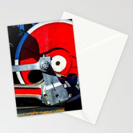 Vintage Steam Engine Locomotive Driving Wheel Eccentric And Rods Stationery Cards