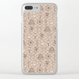 Retro asian pattern Clear iPhone Case