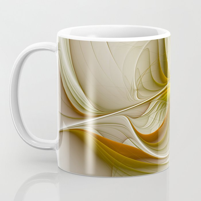 Abstract With Colors Of Precious Metals, Fractal Art Coffee Mug