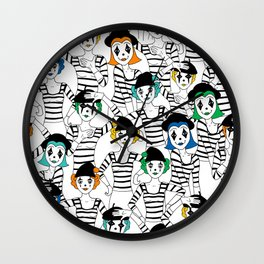 Millions of Mimes Wall Clock