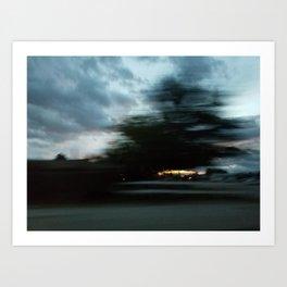 Blurred View Art Print
