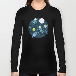 Lunar Spacewalk - Blue + Green Long Sleeve T-shirt