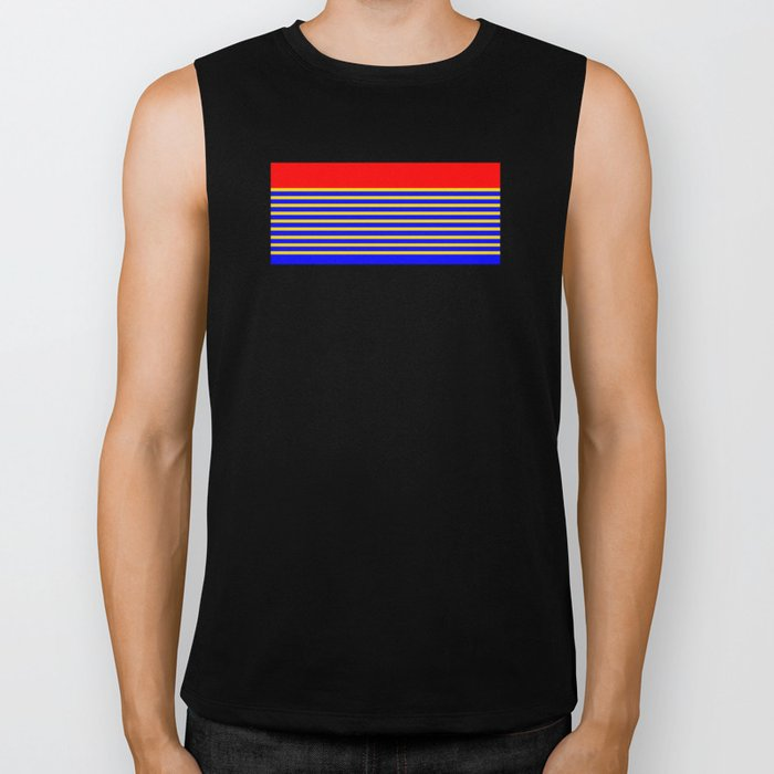 Super Stripes Biker Tank