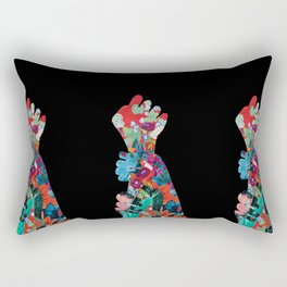 Quilted Floral Fist Rectangular Pillow