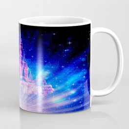 Princess Fairy Tale Enchanted Castle Pink & Blue Coffee Mug