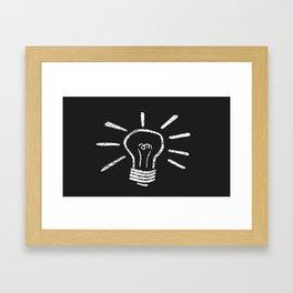 Lightbulb Moment Framed Art Print