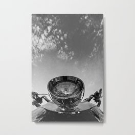 Motorcycle and Sky Metal Print