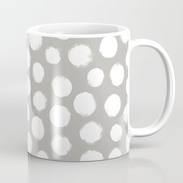 Gray & White Large Polka Dots  Coffee Mug