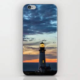 Sunset at Yaquina Head Lighthouse iPhone Skin