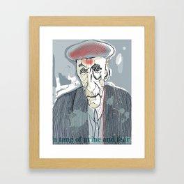 William S. Burroughs Framed Art Print